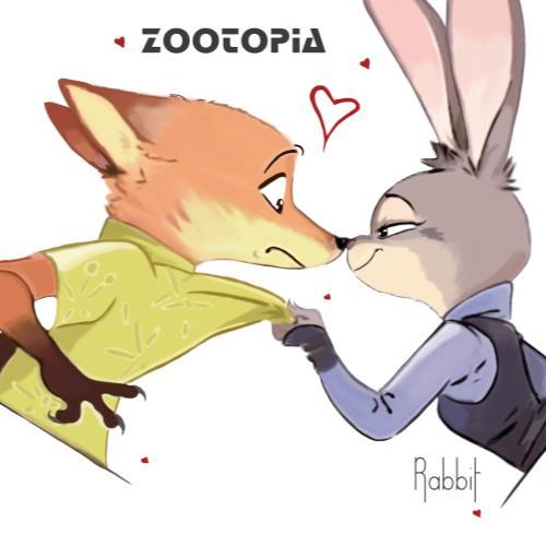 疯狂动物城兔朱迪和尼克情侣t恤