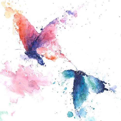 手绘水彩蝴蝶